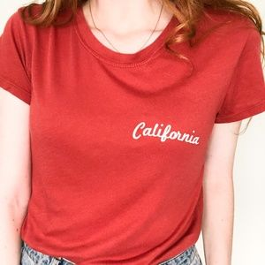 """🌸Brandy Melville """"California"""" Embroidered T-Shirt"""